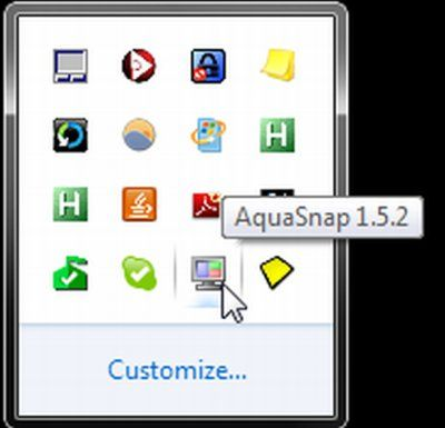 aquasnap windows 7