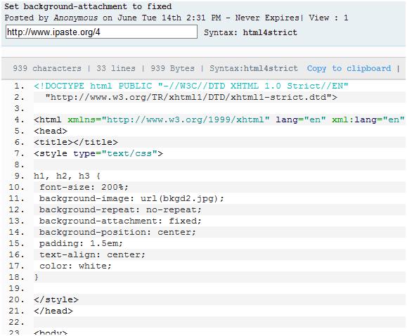 upload code snippets