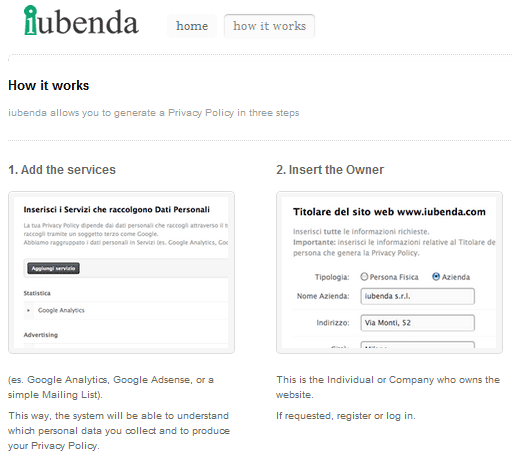 website privacy policy generator