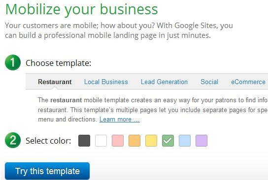 create mobile sites