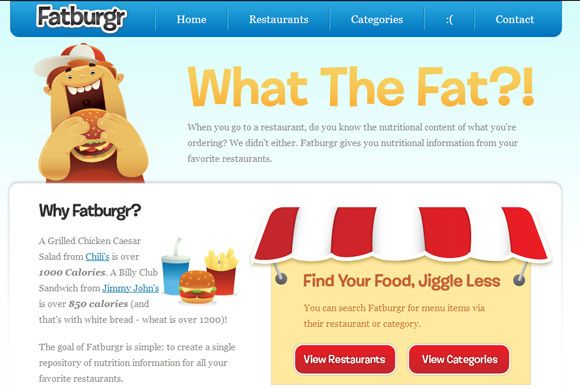 nutritional information site