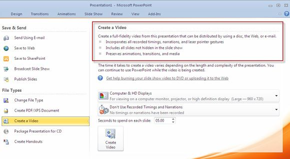 How to convert a powerpoint 2010 presentation into a video with one powerpoint to video toneelgroepblik Images
