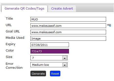 qr codes with tracking
