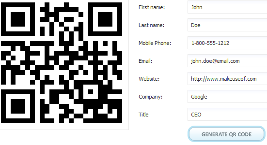 qrcode   vCard On Business Card: Place Your vCard On Your Business Card Through A QR Code