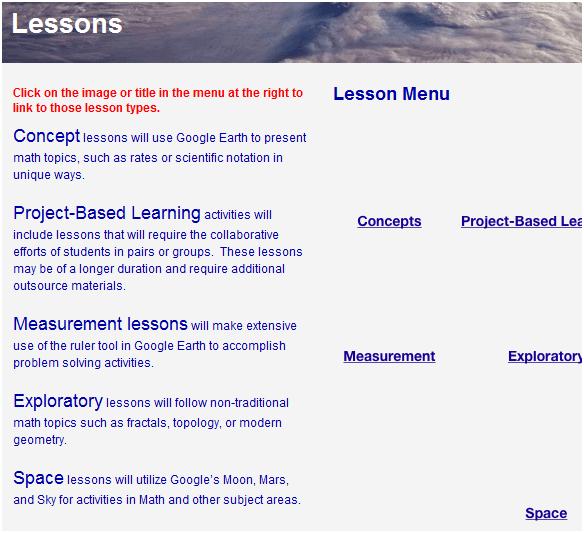 using google earth in the math curriculum