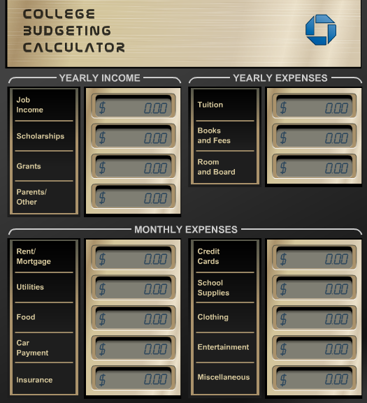 monthly budget calculator