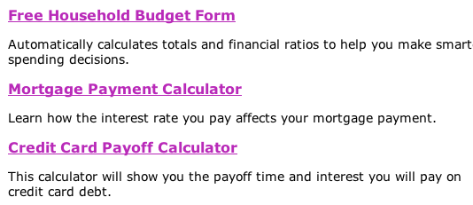 free home budget calculator