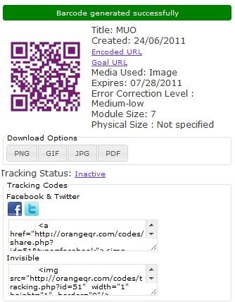 success   OrangeQR: Create QR Codes With Tracking & Analytics