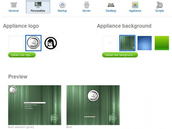 Create Your Own Custom Linux Installation Disc With SUSE Studio suse studio appearance
