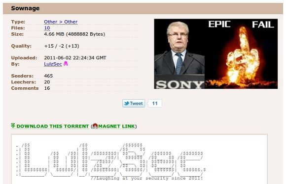 "Sony Pictures Online Hacked Using ""Primitive and Common"" Vulnerability, Data Unencrypted [News] torrent"