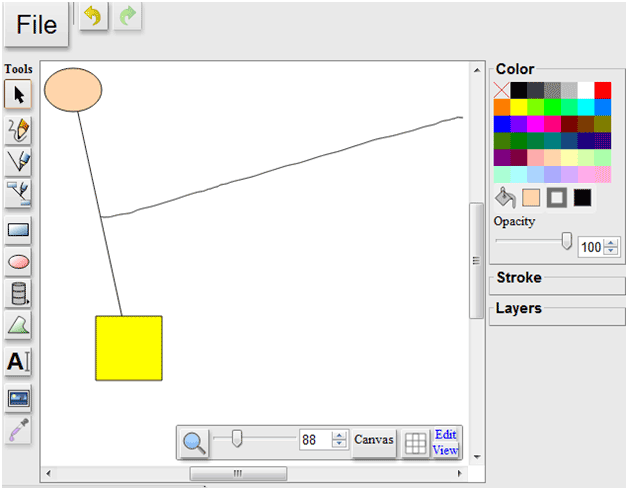simple drawing program