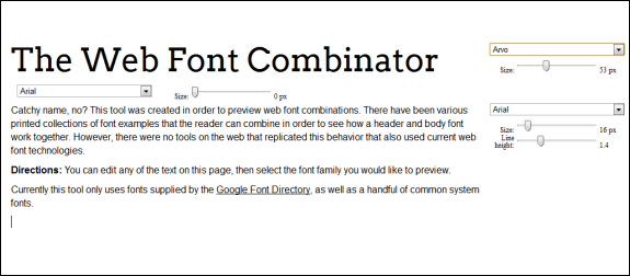 web font combinations