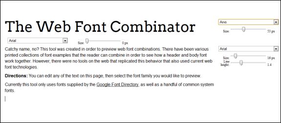 web font combinations