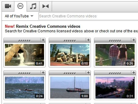 YouTube Creative Commons Library Is Re-Mix Heaven [News] youtubecommons1