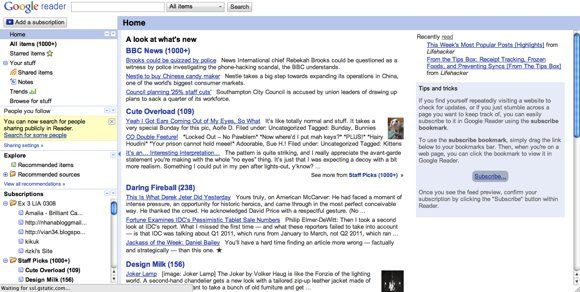 change google reader appearance