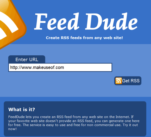 create an rss feed for any page