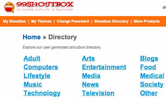 99shoutbox