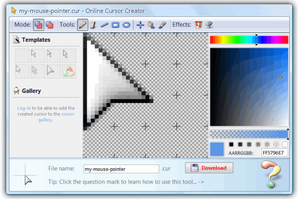 create your own cursor
