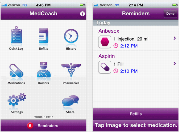 11   MedCoach: Free Medication Manager [iPhone App]