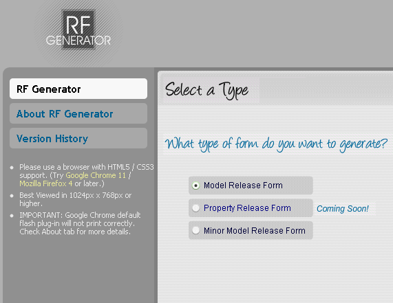 12   Release Form Generator: Generate Photography Model Release Forms