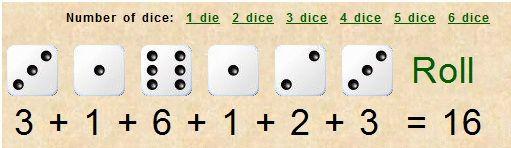 roll virtual dice online