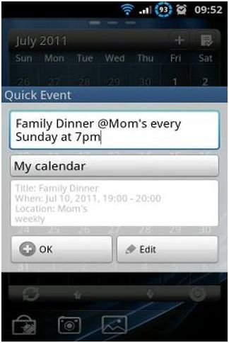add events to android calendar