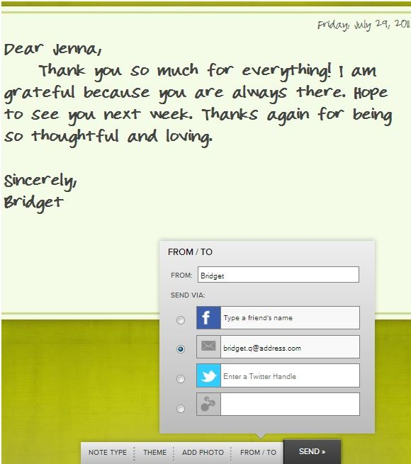 send thank you notes online