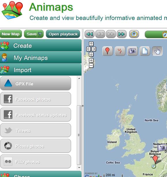 create animated maps