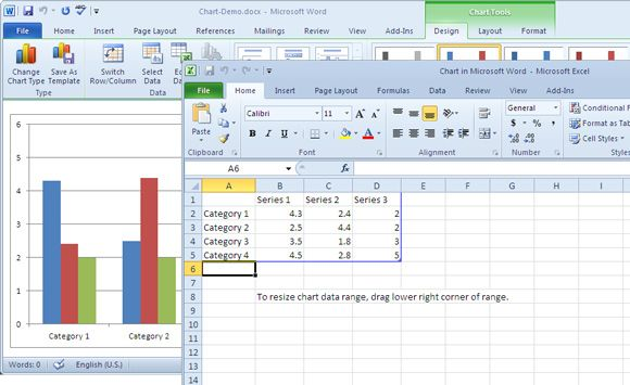 How To Create Attractive Professional Looking Charts Using The Chart Tools Of Ms Word 2010