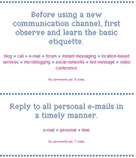 learn the etiquette
