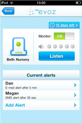 baby monitoring app
