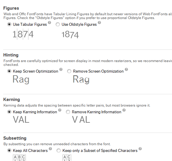 customize web fonts