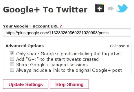 tweet google plus