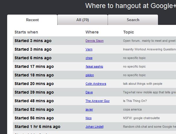 google+ public hangouts