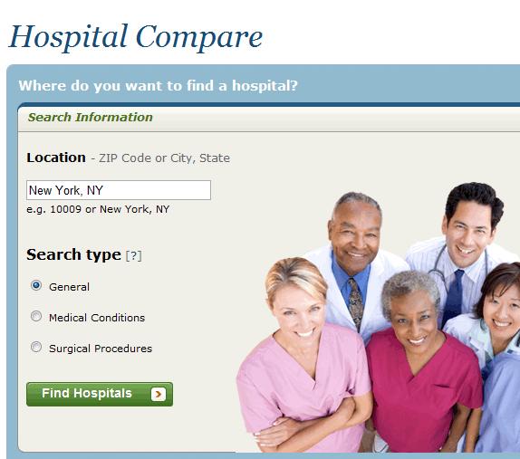 compare local hospitals