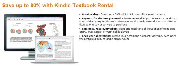 rent textbooks on kindle
