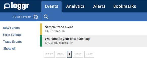 event logging service