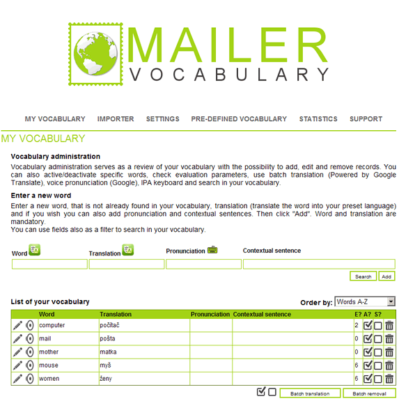 vocabulary lessons