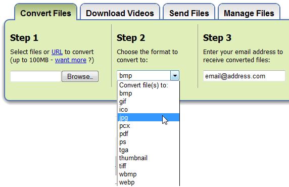 online file format converter