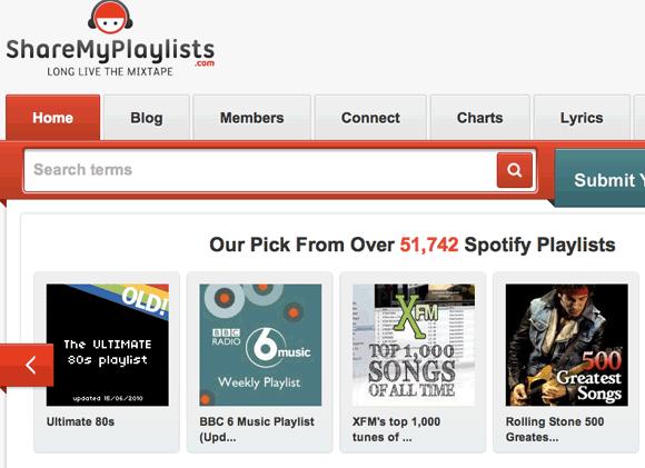 share spotify playlists