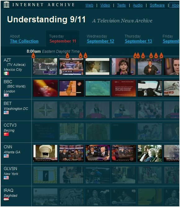 911   Understanding 9/11: An Online Archive Of Television News Reports Regarding 9/11