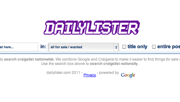 craigslist search engine