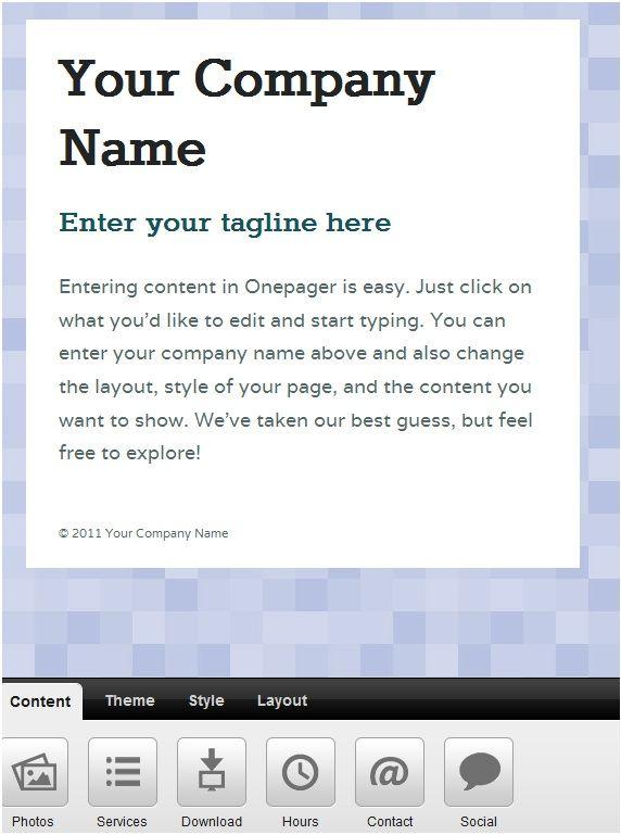 create custom website