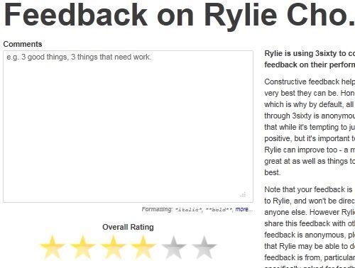 get performance feedback