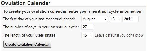 create ovulation calendar