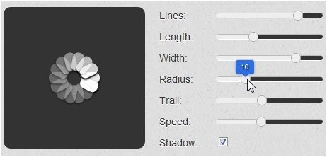 create spinning icon