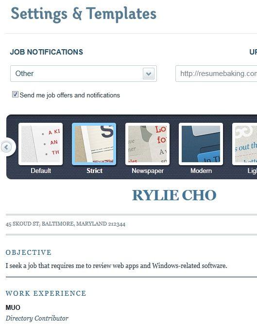 create free resumes online