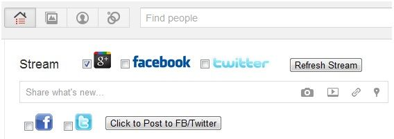 integrate twitter with google+