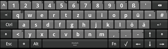 android touchscreen keyboard