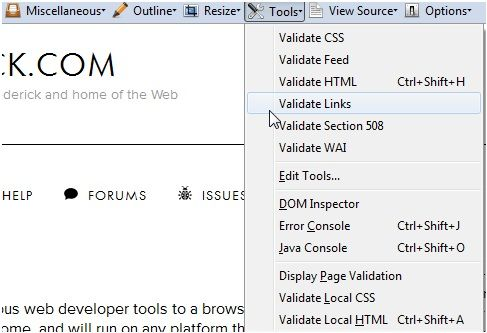 Web-Developer: Adds A Useful Row Of Developer Tools To Your Browser [Firefox & Chrome] Validate
